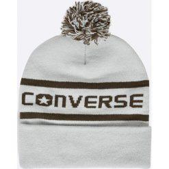 Converse - Czapka. Szare czapki zimowe damskie Converse, na zimę, z dzianiny. W wyprzedaży za 59,90 zł.