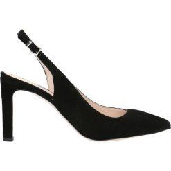 Czółenka SAVONA. Czarne buty ślubne damskie Gino Rossi, w paski, ze skóry, na wysokim obcasie, na szpilce. Za 249,90 zł.