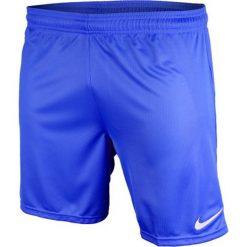 Nike Spodenki męskie Park Boys  niebieskie r. M. Niebieskie spodenki sportowe męskie marki ARTENGO, l, z elastanu. Za 41,25 zł.