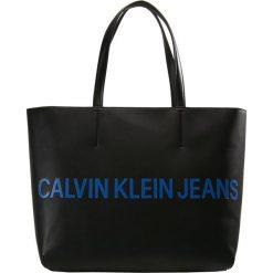 Shopper bag damskie: Calvin Klein Jeans SCULPTED ZIP TOTE LOGO Torba na zakupy black