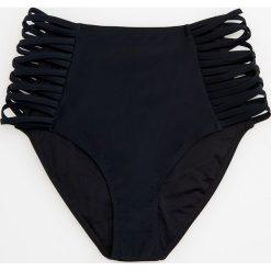 Stroje kąpielowe damskie: Dół od bikini z wycięciami z boku - Czarny