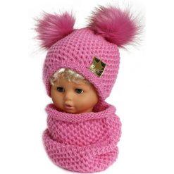 Czapka dziecięca z kominkiem CZ+K 173G różowa r. 48-50. Czerwone czapeczki niemowlęce marki Proman. Za 62,96 zł.