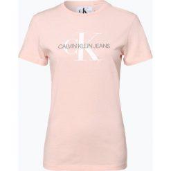 Calvin Klein Jeans - T-shirt damski, różowy. Czerwone t-shirty damskie marki Calvin Klein Jeans, s, z nadrukiem, z bawełny. Za 179,95 zł.