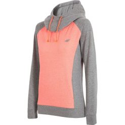 Damska bluza sportowa 4F Double Orange. Pomarańczowe bluzy rozpinane damskie Astratex, z bawełny, z kapturem. Za 96,59 zł.