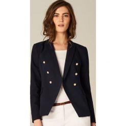 Marynarki i żakiety damskie: Dwurzędowa marynarka - Niebieski