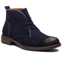 Kozaki LANQIER - 43A604  Granatowy. Niebieskie buty zimowe męskie Lanqier, z materiału. W wyprzedaży za 209,00 zł.