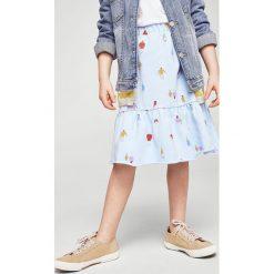 Mango Kids - Spódnica dziecięca Molo 104-164 cm. Szare spódniczki dzianinowe marki Mango Kids, z podwyższonym stanem, midi, rozkloszowane. W wyprzedaży za 49,90 zł.