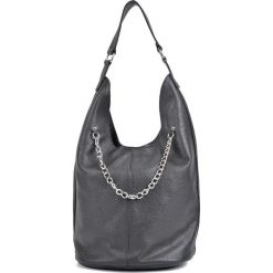 Torebki klasyczne damskie: Skórzana torebka w kolorze czarnym – 45 x 37 x 20 cm