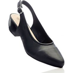 Buty ślubne damskie: Czółenka z paskiem bonprix czarny