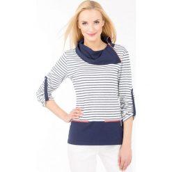 Bluzy rozpinane damskie: Bluza w marynarskim stylu