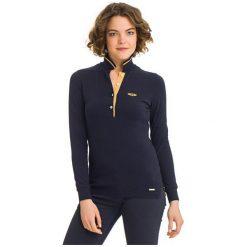 Galvanni Koszulka Polo Damska Melbourne Xl Ciemny Niebieski. Niebieskie bluzki asymetryczne GALVANNI, xl, polo, z długim rękawem. W wyprzedaży za 199,00 zł.