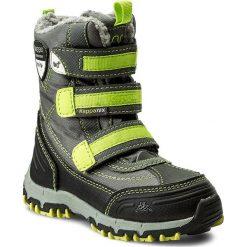 Buty zimowe chłopięce: Śniegowce KAPPA – Ben Tex 260090K Grey/Lime 1633