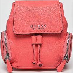 Guess Jeans - Plecak. Różowe plecaki damskie Guess Jeans, z aplikacjami, z jeansu. W wyprzedaży za 479,90 zł.