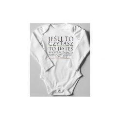 Body test wzroku. Czarne body niemowlęce marki ŁAP NAS, l, z aplikacjami, z bawełny. Za 25,00 zł.