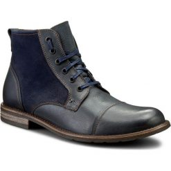 Kozaki GINO ROSSI - Aldo MTC870-S03-VV4B-5757-F 59/59. Niebieskie buty zimowe męskie marki Gino Rossi, z nubiku. W wyprzedaży za 279,00 zł.
