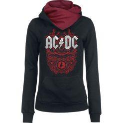 Bluzy rozpinane damskie: AC/DC Rock N Roll Train Bluza z kapturem damska czarny/czerwony