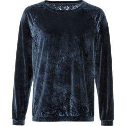 Sweter aksamitny z koronką bonprix ciemnoniebieski. Niebieskie swetry klasyczne damskie bonprix, z koronki, z okrągłym kołnierzem. Za 59,99 zł.