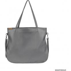 Pacco bag torebka szara na zamek codzienna. Szare torebki klasyczne damskie Pakamera, w paski. Za 170,00 zł.