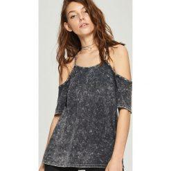T-shirty damskie: Luźny t-shirt cold arms – Szary