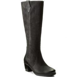 Kozaki TAMARIS - 1-25531-29 Black 001. Czarne buty zimowe damskie marki Kazar, ze skóry, przed kolano, na wysokim obcasie, na obcasie. W wyprzedaży za 309,00 zł.