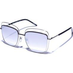 Okulary przeciwsłoneczne męskie: Okulary męskie w kolorze czarno-srebrnym