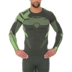 Bluzy męskie: Brubeck Bluza męska Dry z długim rękawem zielona r. L (LS13080)