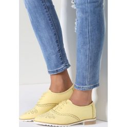 Półbuty damskie: Żółte Półbuty Balanced