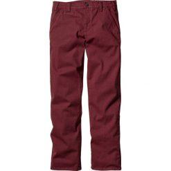 Spodnie ze stretchem chino Slim Fit Straight bonprix bordowy. Czerwone chinosy męskie marki bonprix. Za 89,99 zł.