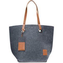 """Shopper bag damskie: Shopper bag """"Tess"""" w kolorze antracytowym – 50 x 40 cm"""