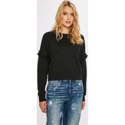 Only - Bluza. Szare bluzy damskie marki ONLY, s, z bawełny, casualowe, z okrągłym kołnierzem. W wyprzedaży za 39,90 zł.
