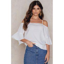 Bluzki asymetryczne: Rut&Circle Bluzka Jolie frill sleeve - White