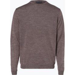 Finshley & Harding - Sweter męski z dodatkiem wełny merino, szary. Czarne swetry klasyczne męskie marki Finshley & Harding, w kratkę. Za 129,95 zł.
