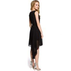 TRINITY Wieczorowa sukienka bez rękawów - czarna. Szare sukienki asymetryczne marki Mohito, l, z asymetrycznym kołnierzem. Za 169,90 zł.