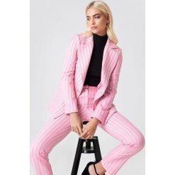 Paski damskie: Trendyol Marynarka w paski – Pink