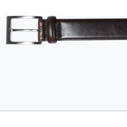 Condor - Męski pasek skórzany, brązowy. Brązowe paski męskie Condor, w paski, ze skóry, wizytowe. Za 139,95 zł.