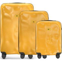 Walizki Icon w zestawie 3 el. matowy żółty. Szare walizki marki Crash Baggage, z materiału. Za 2628,00 zł.
