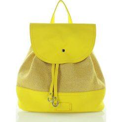 Plecaki damskie: Wygodny plecak żółty