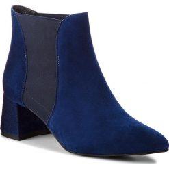 Botki GINO ROSSI - Hiromi DSH773-Z63-4900-5700-0 59. Niebieskie buty zimowe damskie Gino Rossi, z materiału, na obcasie. W wyprzedaży za 299,00 zł.