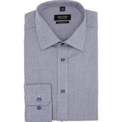 Koszula versone 2698 długi rękaw custom fit granatowy. Niebieskie koszule męskie Recman, m, z długim rękawem. Za 129,00 zł.