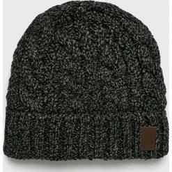 Barts - Czapka. Czarne czapki zimowe męskie marki Barts, na zimę, z dzianiny. Za 129,90 zł.