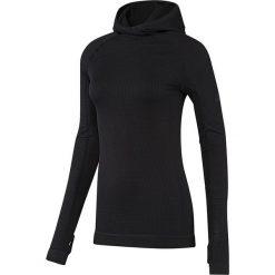 Adidas Bluza damska Seamless Climaheat Hooded Longsleeve czarna r. S (AY9314). Czarne bluzy sportowe damskie marki DOMYOS, z elastanu. Za 226,41 zł.