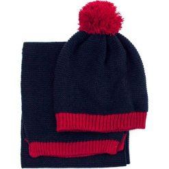 Komplet - czapka i szalik damski granatowy. Niebieskie czapki zimowe damskie Art of Polo. Za 62,90 zł.