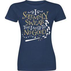 Bluzki asymetryczne: Harry Potter Solemnly Swear Koszulka damska granatowy