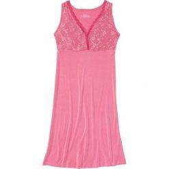 Koszula nocna z wiskozy bonprix pastelowy różowy. Czerwone koszule nocne i halki bonprix, z wiskozy. Za 49,99 zł.