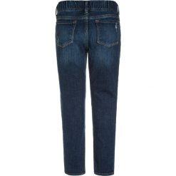 GAP PLAID Jeans Skinny Fit dark wash. Niebieskie rurki damskie GAP, z bawełny. W wyprzedaży za 135,20 zł.