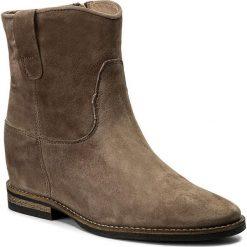 Botki CARINII - B4125  I71-000-PSK-B89. Brązowe buty zimowe damskie marki Carinii, z materiału. W wyprzedaży za 209,00 zł.