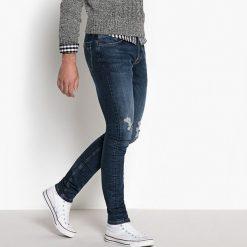 Jeansy krój skinny styl destroy. Niebieskie jeansy męskie skinny La Redoute Collections. Za 141,08 zł.