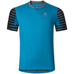 Odlo Koszulka męska Odlo Stand-up collar s/s 1/2 zip MORZINE niebieska r. L. Niebieskie t-shirty męskie Odlo, l. Za 199,95 zł.