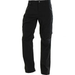 Chinosy męskie: ODLO PANTS ZIPOFF WEDGEMOUNT 2IN1  Spodnie materiałowe black