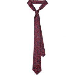 Krawat Czerwony Paisley. Czerwone krawaty męskie LANCERTO, paisley, eleganckie. Za 139,90 zł.